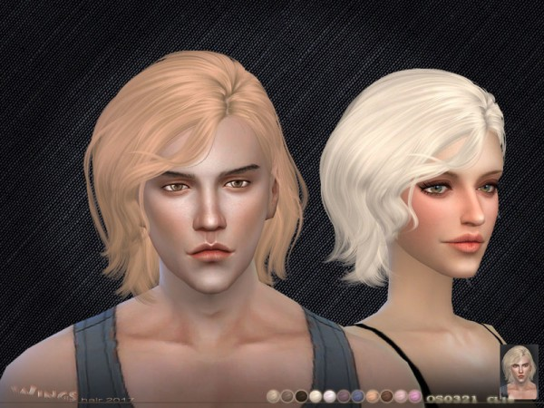 The Sims Resource: WINGS OS0321 hair for Sims 4