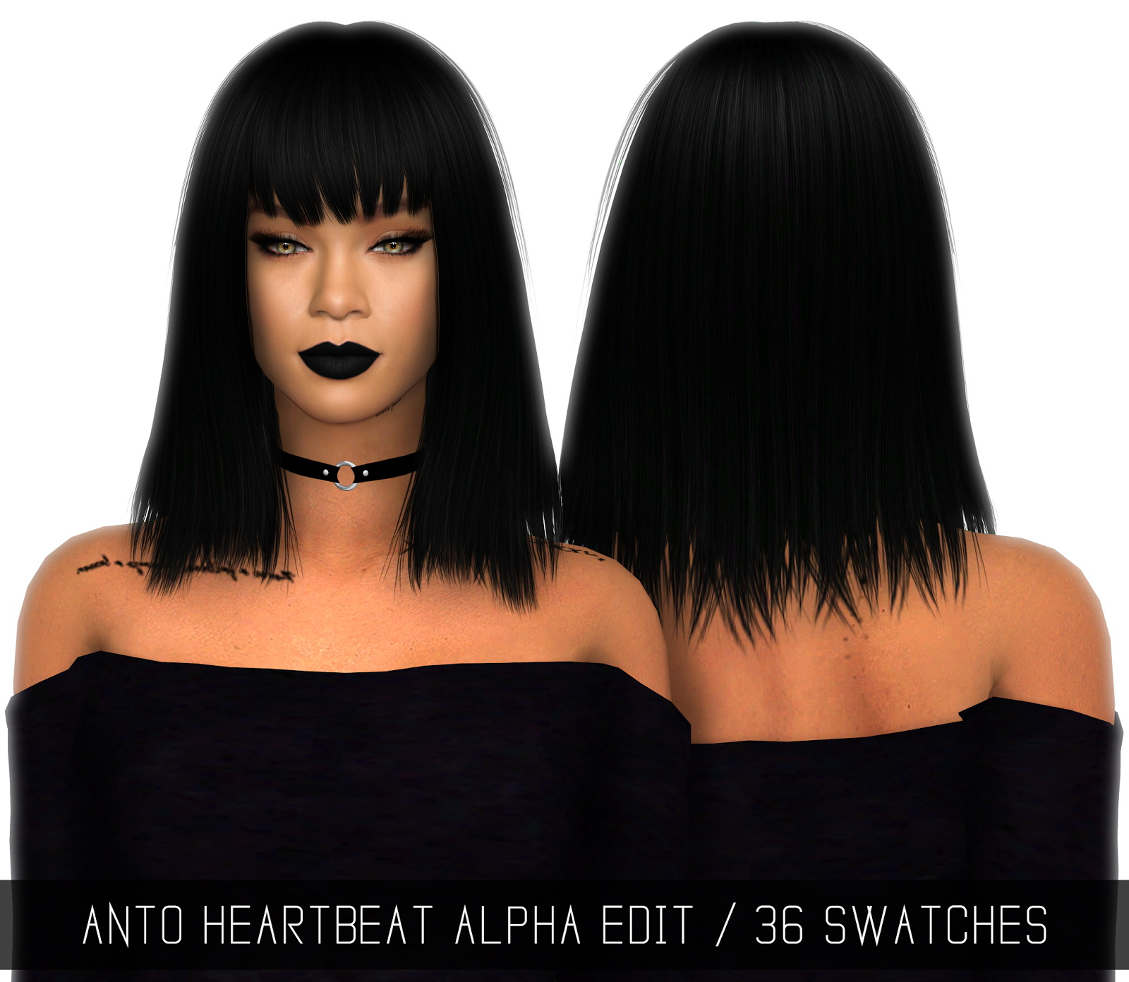 Sims 4 Hairs Simpliciaty Anto S Heartbeat Hair Retextured