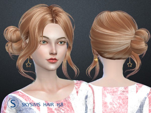 Butterflysims: Skyhair 158 hair for Sims 4