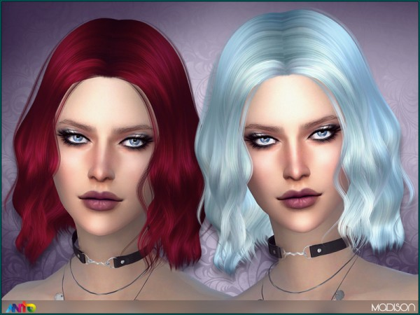 The Sims Resource: Madison Hair by Anto for Sims 4