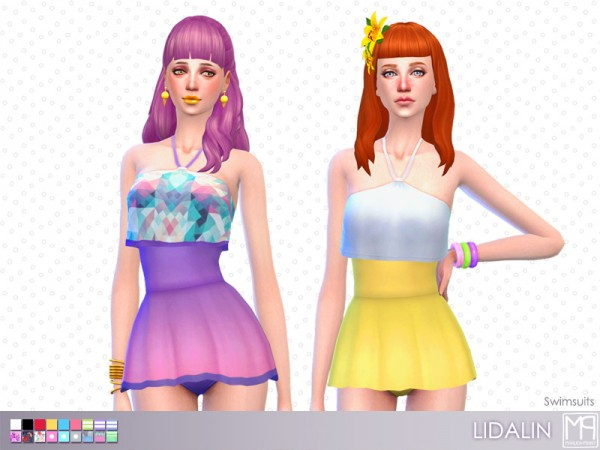 The Sims Resource: Lidalin hair retextured by nueajaa for Sims 4