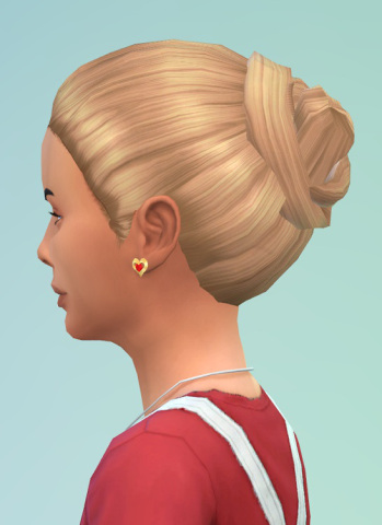 Birksches sims blog: Messy Knot hair for girls for Sims 4