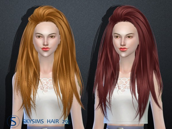 Butterflysims: Skysims 295 hair for Sims 4