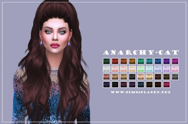 Anarchy Cat: Anto`s4 Atenea hair retextured for Sims 4