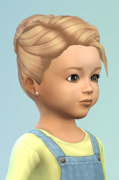 Birksches sims blog: Hair Bun with Clips for toddlers for Sims 4