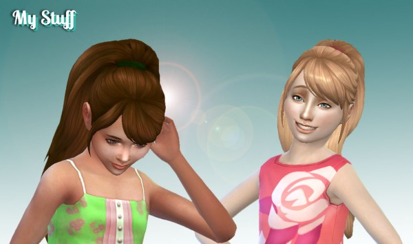 Sims 4 Hairs Mystufforigin Confident Ponytail Hair For