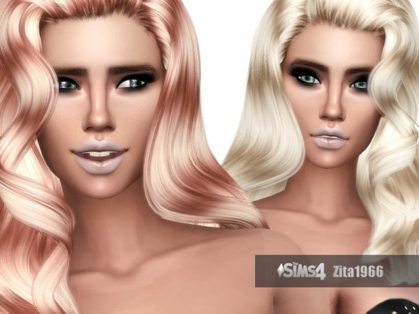 The Sims Resource: Style Ambition hair retextured by ZitaRossouw for Sims 4