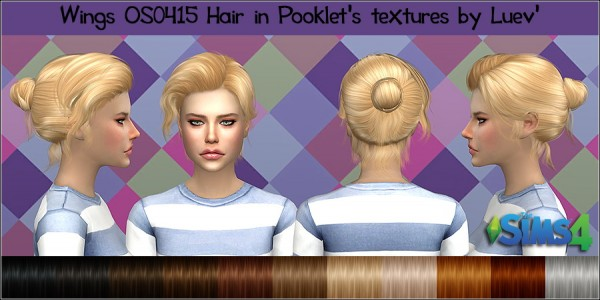 Mertiuza: Wings OS0415 hair retextured for Sims 4