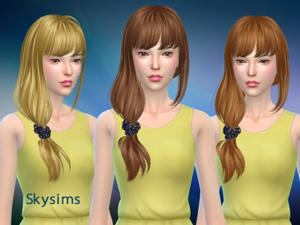 Butterflysims: Hair 114 by Skysims for Sims 4