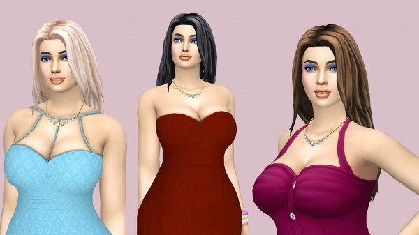 Sims Fun Stuff: New hairs retextured for Sims 4