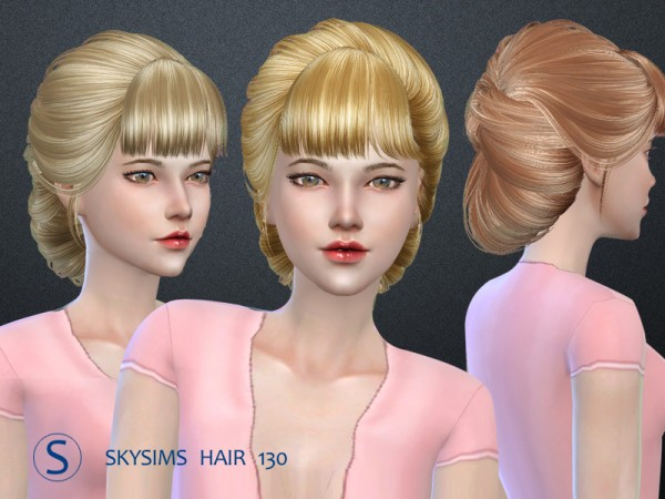 Butterflysims: Hair 130 by Skysims for Sims 4