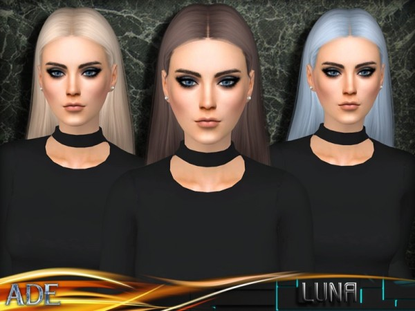 The Sims Resource: Luna hair by Ade Darma for Sims 4