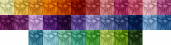 Miss Bunny Gummy: Kiara`s 8 Hairs recolored in 70 colors for Sims 4