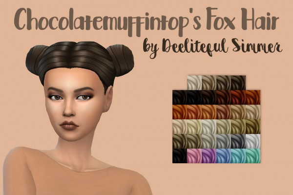 Deelitefulsimmer: Fox hair recolor for Sims 4