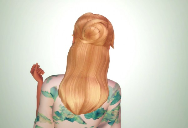 Butterscotchsims: Larimar Hair for Sims 4
