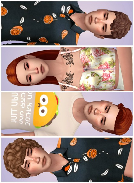 Tranquility Sims: Hairs dump recolor for Sims 4