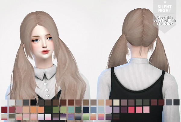 Silent Night: Stealthic`s BabyDoll Hair recolor for Sims 4