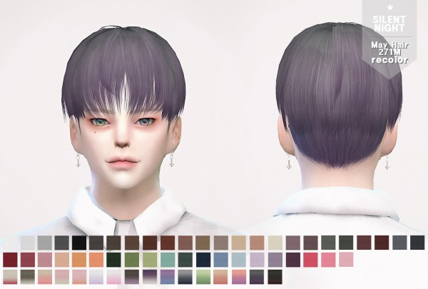 Silent Night: May Hair271M recolor for Sims 4