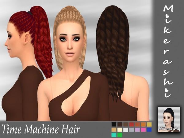Mikerashi: Time Machine Hair for Sims 4