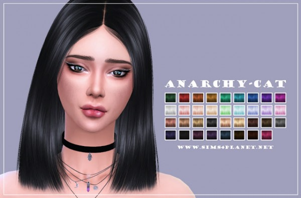 Anarchy Cat: Nightcrawler`s Antoinette hair retextured for Sims 4