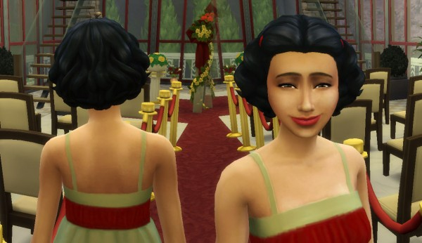 Mystufforigin: Lovely Curls hair converted for Sims 4