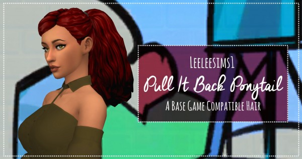 Simsworkshop: Pull It Back Ponytail by leeleesims1 for Sims 4