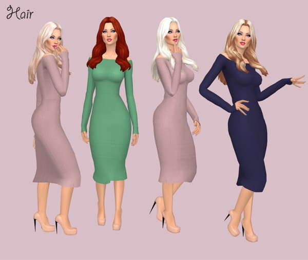 Sims Fun Stuff: Simple Simmer Phaedra and Ivos`s Carmen Hair recolored for Sims 4