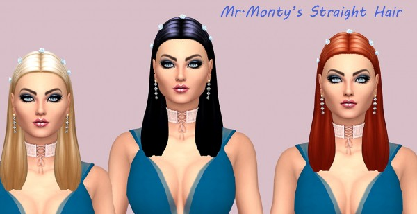 Sims Fun Stuff: Straight and Sunwave Hair recolor for Sims 4