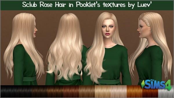 Mertiuza: S club` Rose hair retextured for Sims 4