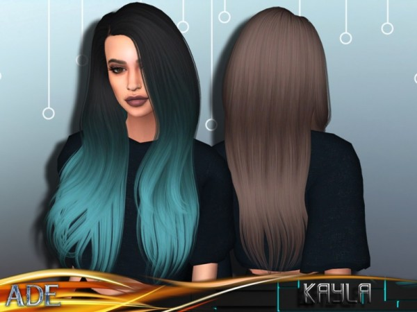 The Sims Resource: Kayla hair by Ade Darma for Sims 4