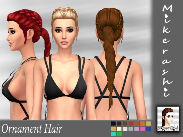 Mikerashi: Ornament Hair for Sims 4