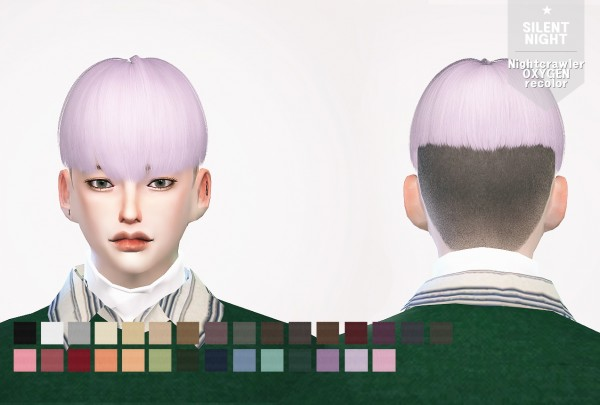 Silent Night: Nightcrawler`s Oxygen hair recolor for Sims 4