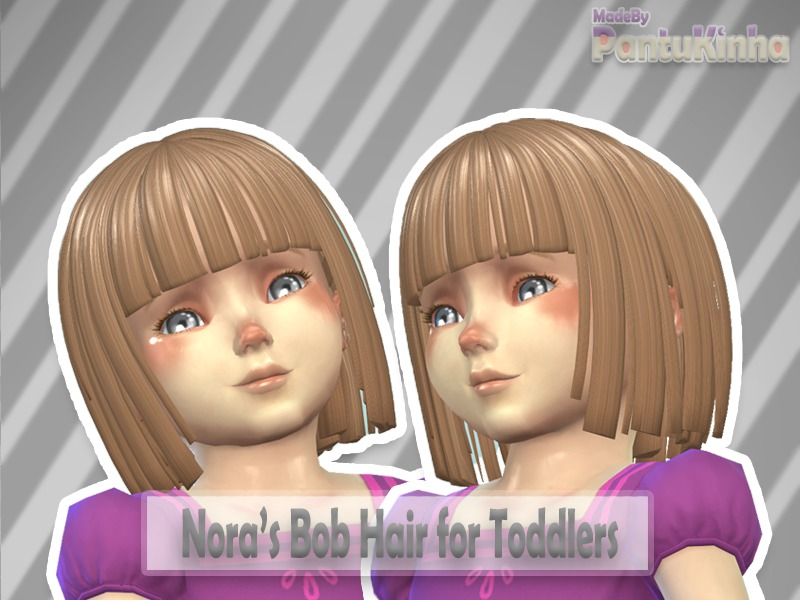 Sims 4 Hairs The Sims Resource Baby Nora S Bob Hair By