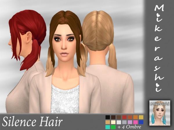 Mikerashi: Silence Hair for Sims 4