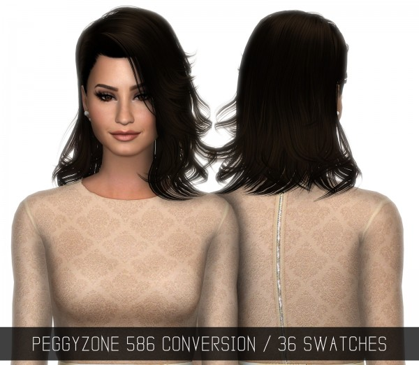 Simpliciaty: Peggy`s 586 hair retextured for Sims 4