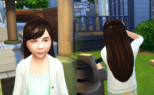 Mystufforigin: Natalie Hairstyle for Girls for Sims 4