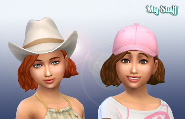 Mystufforigin: Amalia Hair for Girls for Sims 4