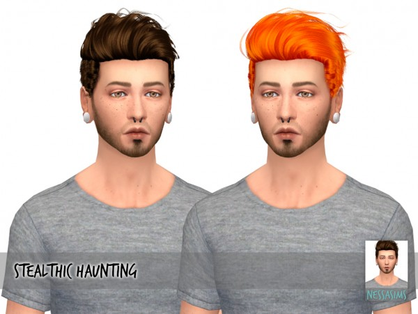 Nessa sims: Stealthic`s Haunting, Ade`s Syle and Scream hair retextued for Sims 4
