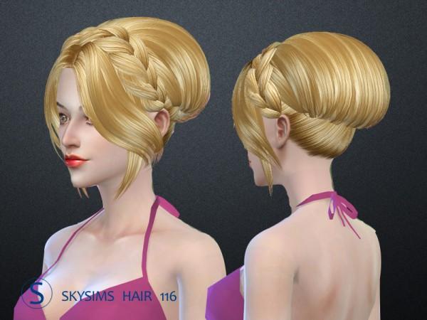 Butterflysims: Skysims 116 hair for Sims 4