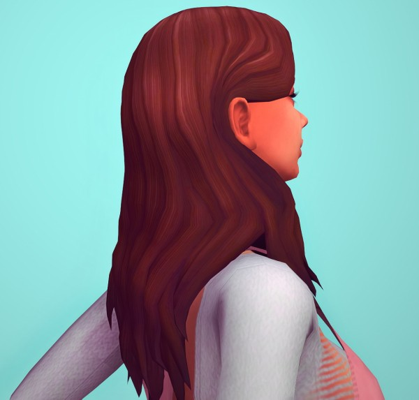 Butterscotchsims: Orchid Hair for Sims 4