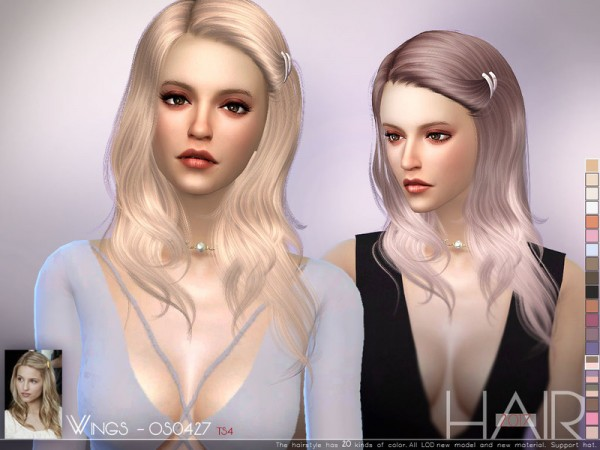 The Sims Resource: WINGS OS0427 hair for Sims 4