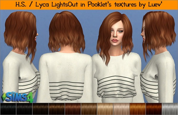 Mertiuza: Lyca lightsout hair retextured for Sims 4