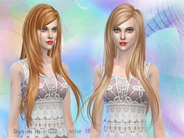 Butterflysims: Skysims 023 hair for Sims 4
