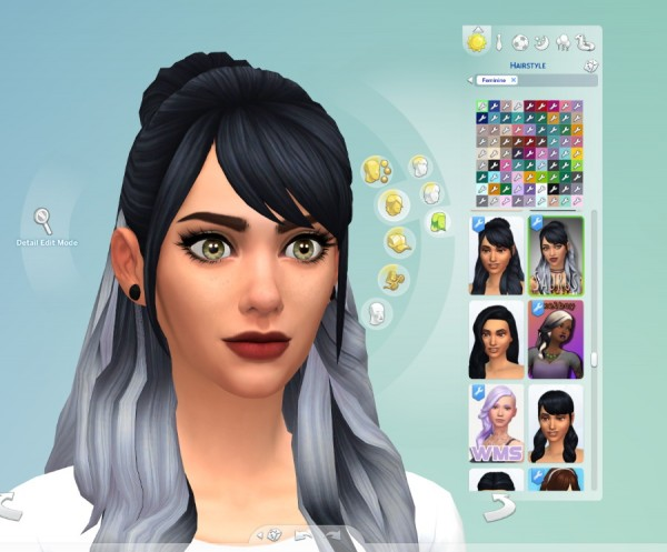 Mod The Sims: Leela`s Ombre hair recolour by SaurusSims for Sims 4