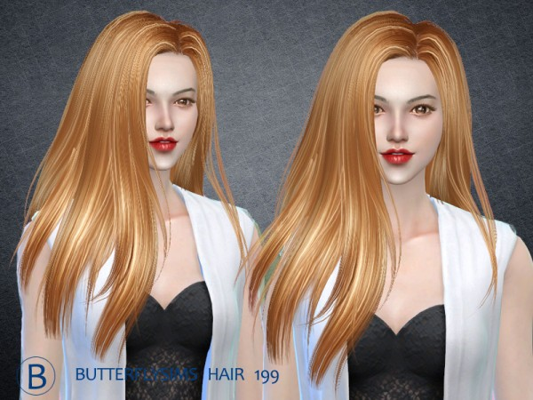 Butterflysims: Hair 199 hair for Sims 4