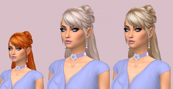 Sims Fun Stuff: Confident Ponytail, Barbara and Roseanne hair retextured for Sims 4