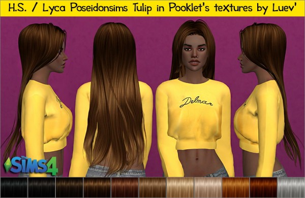 Mertiuza: Lyca poseidonsims tulip hair retextured for Sims 4