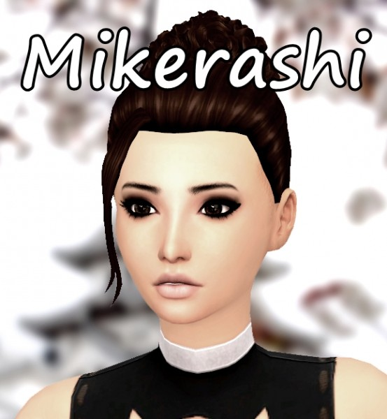 Mikerashi: Atmosphere Hair for Sims 4