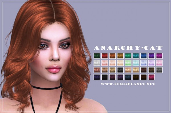 Anarchy Cat: Anto`ss Mollie hair retextured for Sims 4