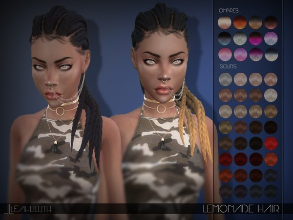 The Sims Resource: Lemonade Hair by Leah Lillith for Sims 4